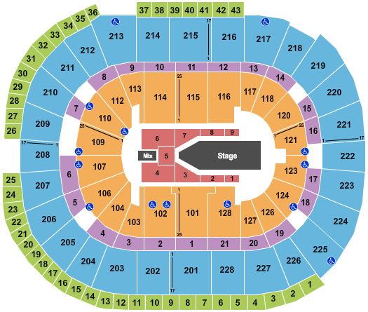 seating chart for SAP Center The Weeknd - eventticketscenter.com