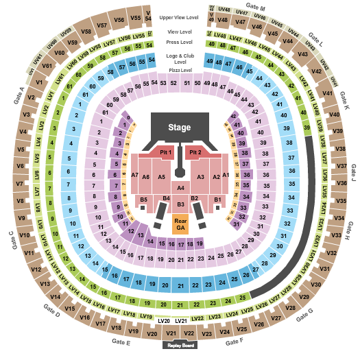 SDCCU Stadium Floor Plan