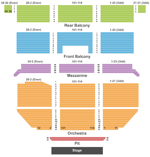 Saban Theatre Floor Plan