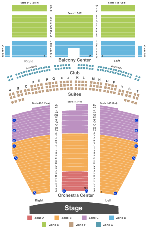 Saenger Theatre - New Orleans Seating Chart Plan