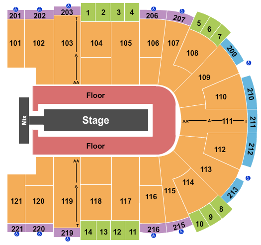 Sames Auto Arena seating chart event tickets center