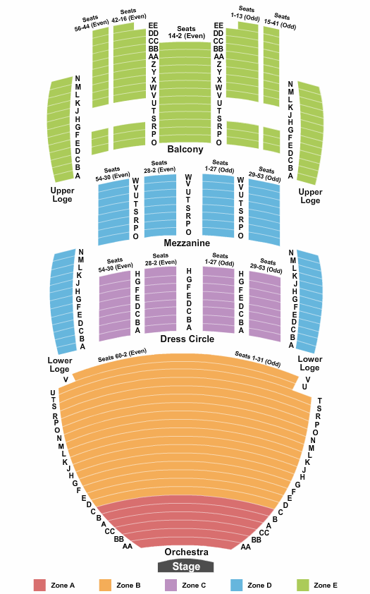 San Diego Civic Theatre Seating Chart Plan
