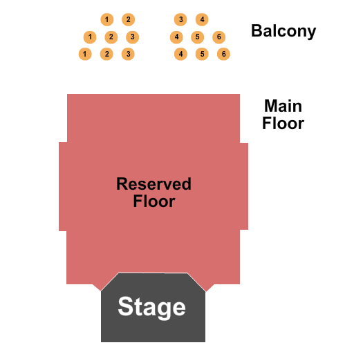 Sanctuary Events Center End Stage seating chart - eventticketscenter.com