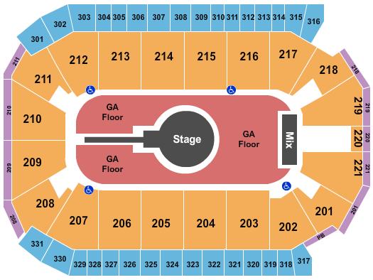 Santa Ana Star Center Seating Chart