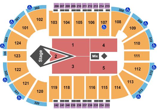 Santander Arena Floor Plan