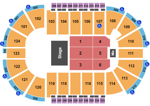 Santander Arena seating chart event tickets center