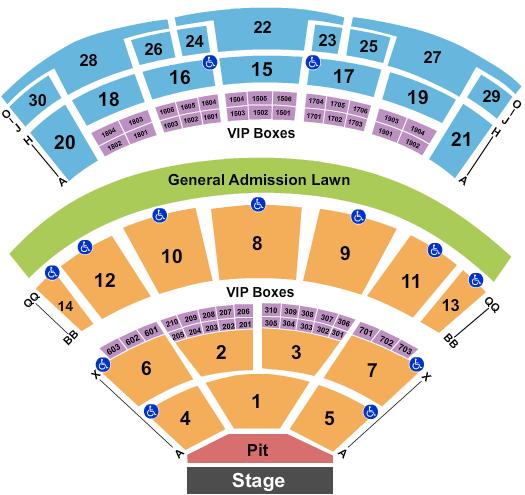 Saratoga Performing Arts Center Floor Plan
