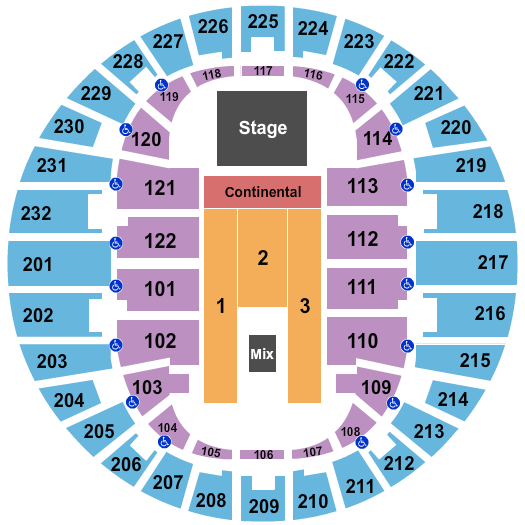 Scope Arena Floor Plan