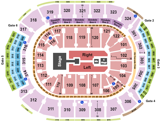 Scotiabank Arena Floor Plan