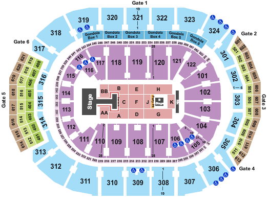 Scotiabank Arena seating chart event tickets center