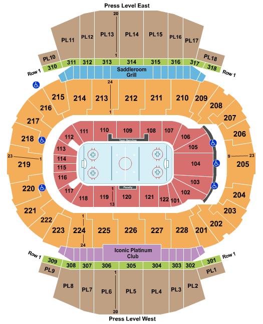 Scotiabank Saddledome Floor Plan