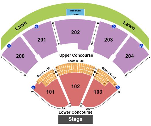 Shoreline Amphitheatre - CA seating chart event tickets center