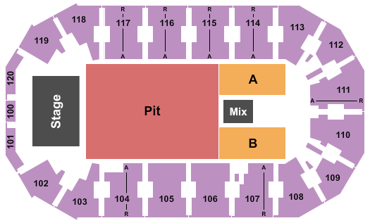 Cable Dahmer Arena Floor Plan