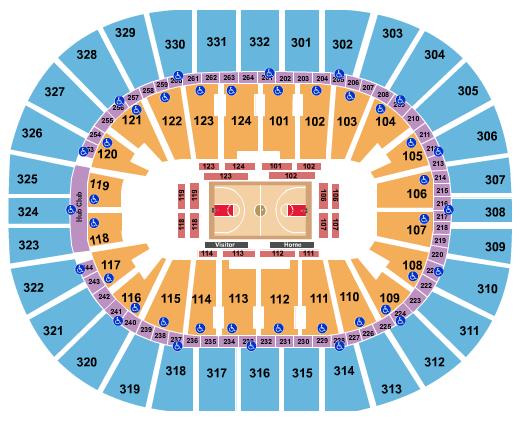 Smoothie King Center Floor Plan