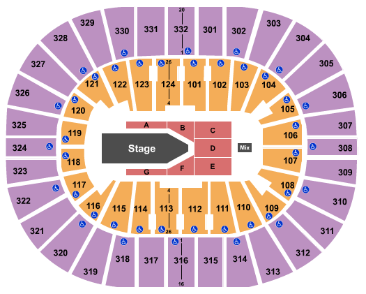 Smoothie King Center Floor Plan