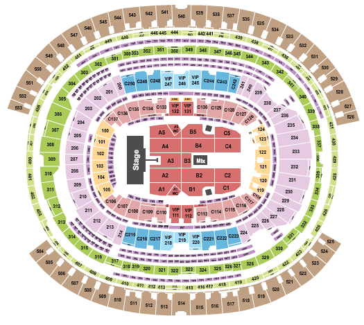 SoFi Stadium Floor Plan