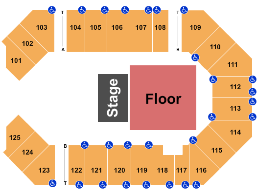 The Corbin Arena - KY seating chart event tickets center