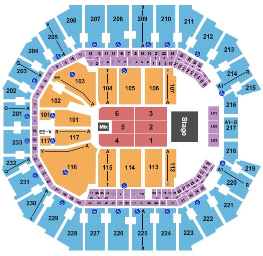 Spectrum Center seating chart event tickets center