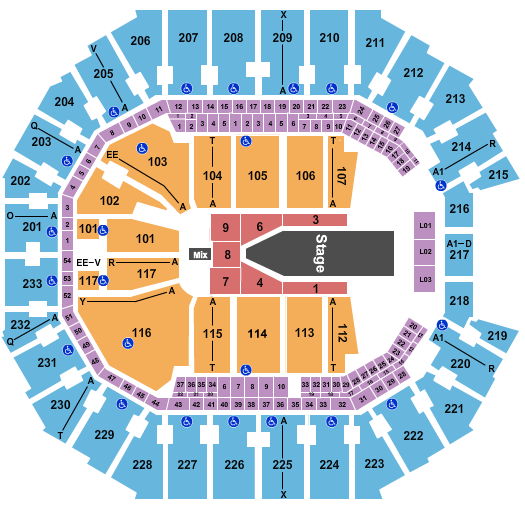Spectrum Center seating chart event tickets center