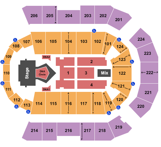Spokane Arena seating chart event tickets center