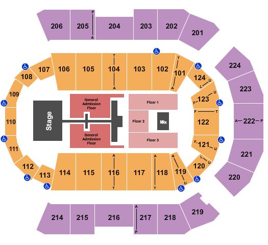 Spokane Arena Floor Plan