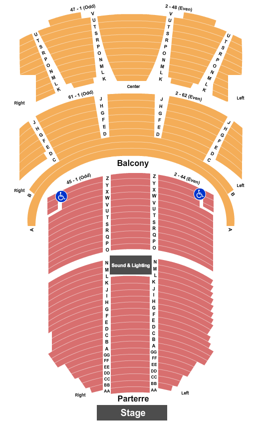 St. Denis Theatre - Hall 1 seating chart event tickets center