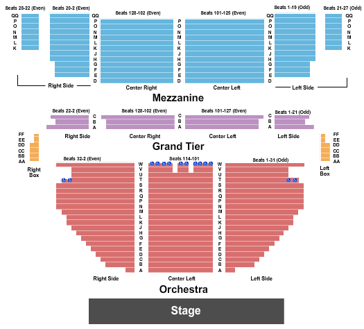 Stamford Center For The Arts - Palace Theatre seating chart event tickets center