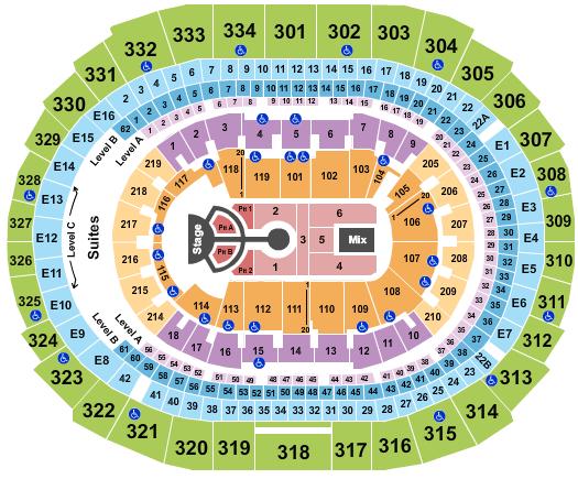 seating chart for Staples Center Imagine Dragons - eventticketscenter.com