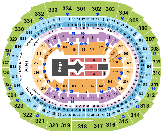 Staples Center seating chart event tickets center