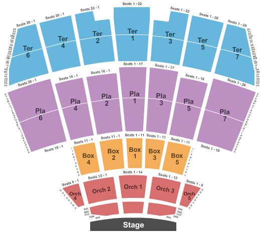 Starlight Theatre - Kansas City seating chart event tickets center