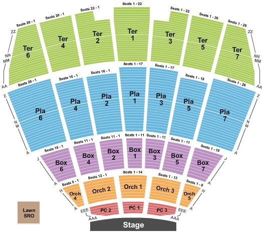 Starlight Theatre - Kansas City Seating Chart Plan