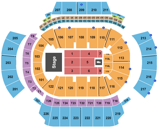 State Farm Arena - GA Floor Plan