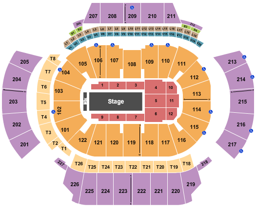 State Farm Arena - GA Floor Plan