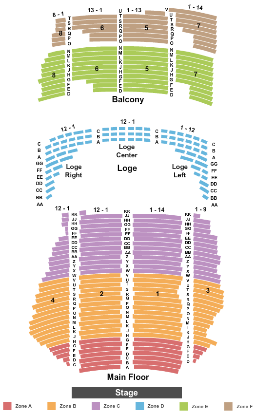 State Theatre - MN Endstage Int Zone seating chart - eventticketscenter.com