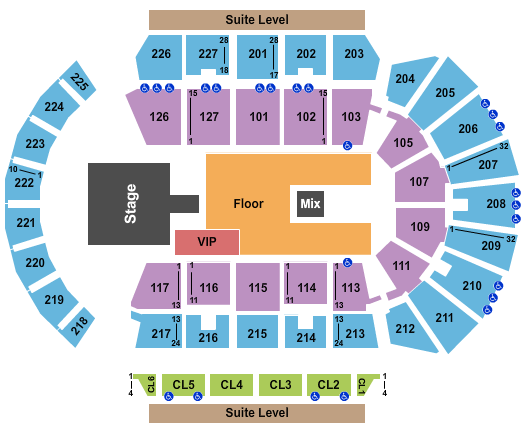 Stockton Arena Floor Plan