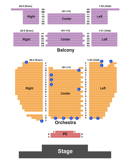 Sunrise Theatre - FL seating chart event tickets center