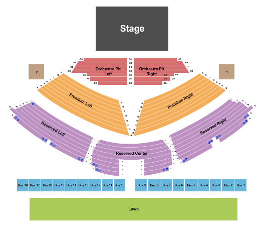 Sweetland Amphitheatre at Boyd Park Seating Chart