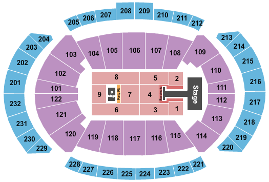 T-Mobile Center seating chart event tickets center