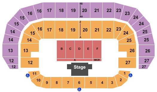 TD Place Arena Floor Plan