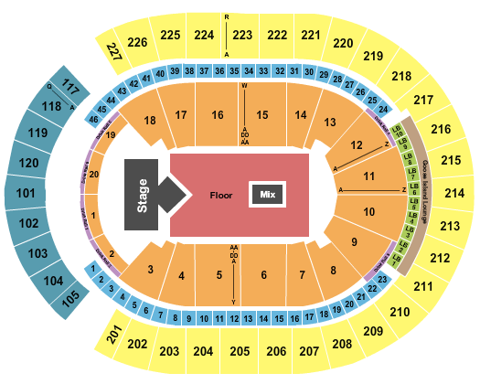 T-Mobile Arena seating chart event tickets center