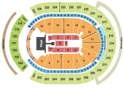 T-Mobile Arena Floor Plan
