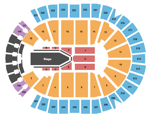 T-Mobile Arena Floor Plan