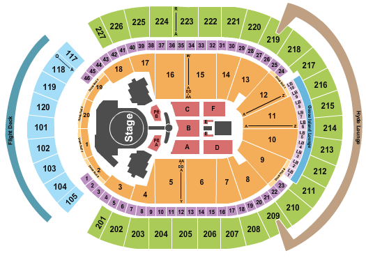T-Mobile Arena Seating Map