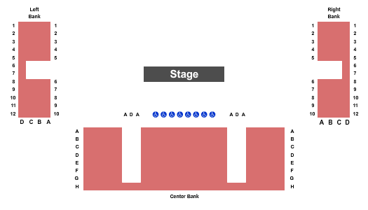 Tennessee Performing Arts Center - Andrew Johnson Theater Seating Chart Plan