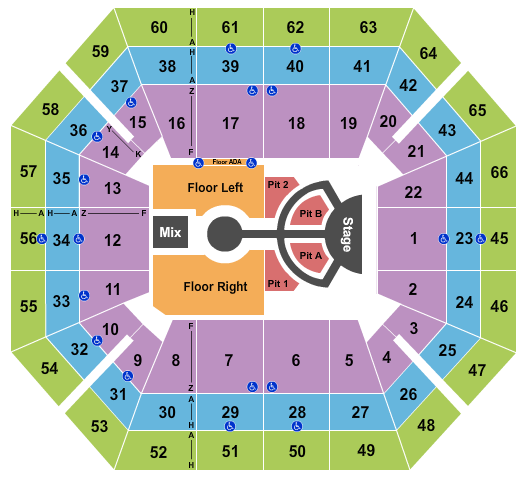 seating chart for ExtraMile Arena Imagine Dragons - eventticketscenter.com