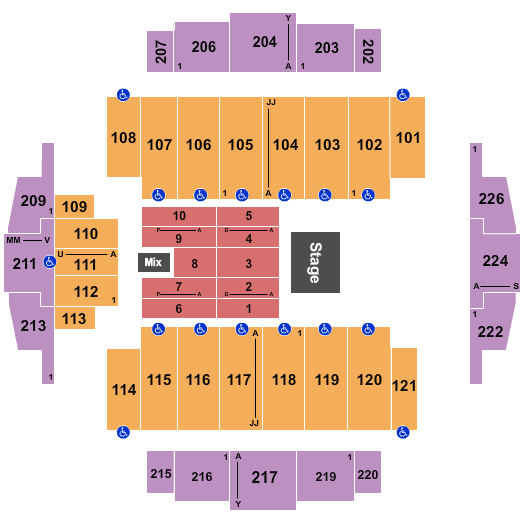seating chart for Tacoma Dome Andre Rieu - eventticketscenter.com