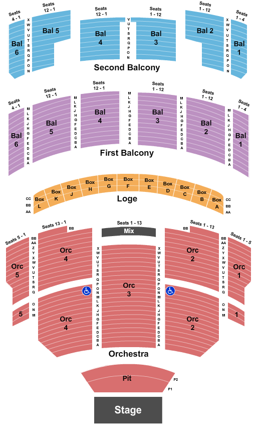 Taft Theatre seating chart event tickets center