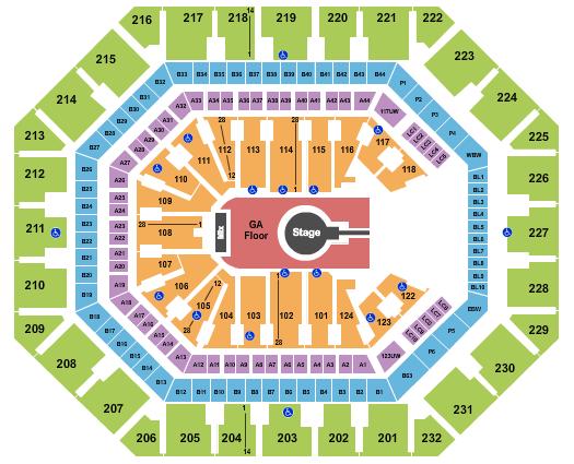 Talking Stick Resort Arena Floor Plan