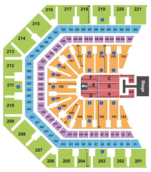 seating chart for Talking Stick Resort Arena Grupo Firme - eventticketscenter.com
