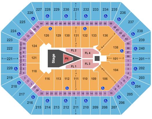 Target Center seating chart event tickets center